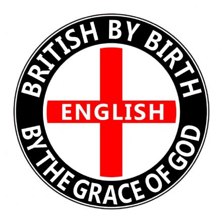 """English By The Grace of God"" England Car Sticker"
